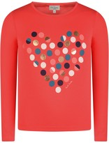 Paul Smith Girls Coral Spotted Heart Pabla Top