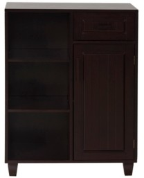 Elegant Home Fashions Catalina Floor Cabinet with One Door, One Drawer and Three Shelves