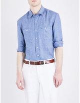 Ralph Lauren Purple Label Aston Slim-fit Linen Shirt
