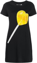 Love Moschino lollipop print T-shirt dress