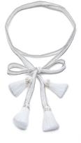 Chan Luu Convertible Chiffon Necktie with Tassels