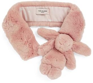 Yves Salomon Enfant Rabbit Fur Stole