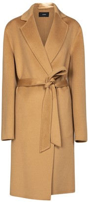 Joseph Cenda wool and cashmere belted coat