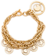 Fallon Prodigiam Medallion Bracelet in Metallic Gold.