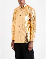 Comme Des Garcons Shirt Regular-fit Cotton-blend Metallic Shirt