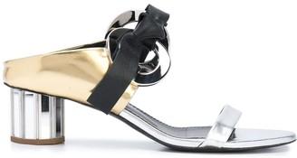 Proenza Schouler facet heel Grommet sandals