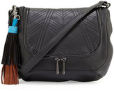 French Connection Gabby Faux-Leather Crossbody Bag, Black