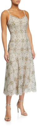 Jonathan Simkhai Savannah Guipure Lace Midi Dress