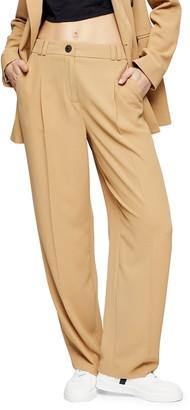 Topshop Twill Peg Suit Trousers