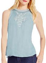 Jessica Simpson Embroidered Sleeveless Top