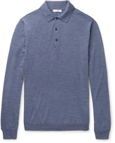Boglioli - Mélange Virgin Wool Polo Shirt