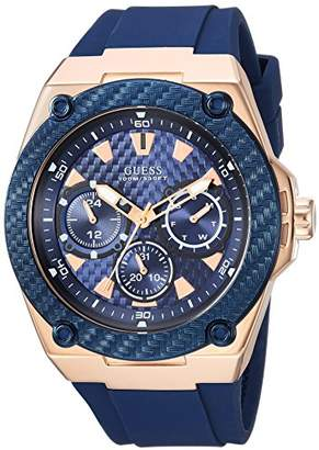 GUESS Comfortable Iconic Stain Resistant Watch with Rose Gold-Tone Day