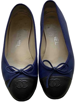Chanel Blue Leather Ballet flats