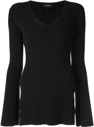 Theory fitted V-neck pullover