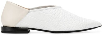 Toga Pulla Croc-Effect Embossed Loafer