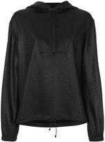 Saint Laurent high shine half zip hoody - women - Cotton/Polyamide/Spandex/Elastane/Virgin Wool - 36