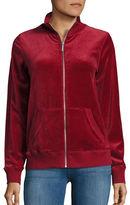 MICHAEL Michael Kors Velour Zip-Up Sweater