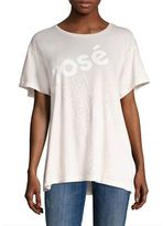 Wildfox Couture Rosé All Day Graphic Tee