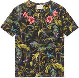 Gucci Paradise bird print t-shirt with studs