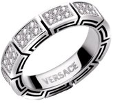 Versace Very Very Slightly Included (VVS1) White Diamond 18ct White Gold Ring Size P 1/2