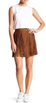 BB Dakota Barton Faux Suede Fringe Mini Skirt