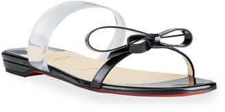 Christian Louboutin Just Nodo Bow Flat Slide Sandals