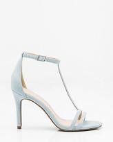 Le Château Snake Embossed T-Strap Sandal