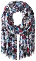 Bindya Stole Painted Garden Cashmere/Silk Wrap