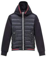 Moncler Boys' Down Front French Terry Hoodie - Sizes 4-6