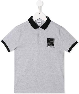Karl Lagerfeld Paris Patch polo shirt
