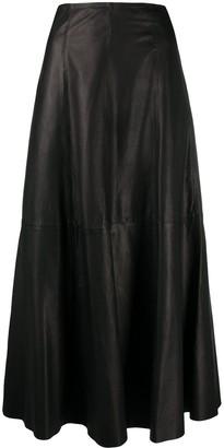 P.A.R.O.S.H. High-Waisted Leather Skirt