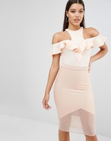 Oh My Love Off The Shoulder Frill Bodysuit