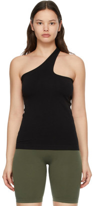Helmut Lang Black Cut-Out Seamless Tank Top