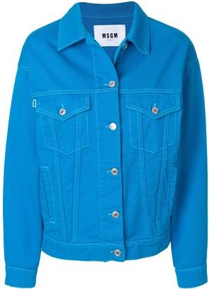 MSGM Brand Patch Denim Jacket