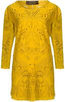Roberto Cavalli laser cut dress - women - Lamb Skin - 40