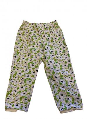 Stella McCartney Green Viscose Trousers