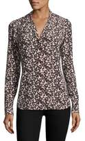 Equipment Adalyn Floral Fling Printed Silk Blouse