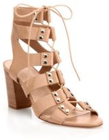 Loeffler Randall Hana Studded Leather Gladiator Sandals