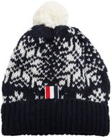 Thom Browne Wool & Mohair Hat With Pompom