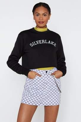 Nasty Gal Womens See Me in Silverlake Cropped Jumper - black - L