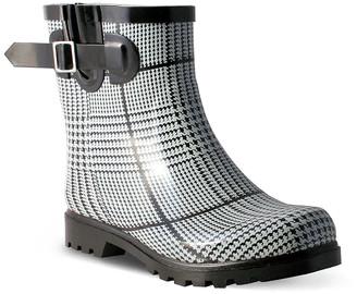 Nomad Footwear Women's Rain boots Black/White - Black & White Plaid Dew Rain Boot - Women