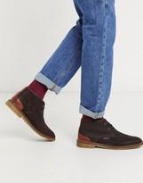 Barbour Kalahari suede mid desert boots in dark brown