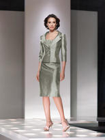 Social Occasions by Mon Cheri - 214833 Short Dress In Dark Sage