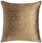 "Austin Horn Classics Beaded Silk Pillow, 17.5""Sq."