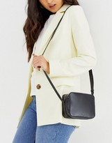 Asos Design DESIGN LEATHER camera cross body bag