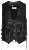 Saint Laurent Leather Waistcoat