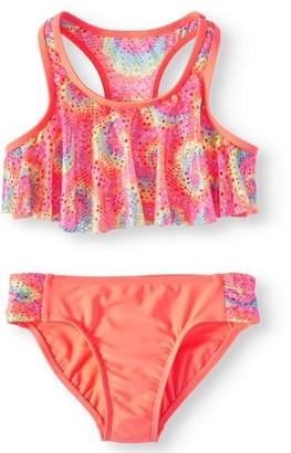 Wonder Nation Printed Crochet Two Piece Bikini Swimsuit Girls 4-18