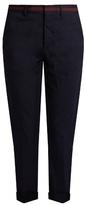 Miu Miu Slim-leg cropped cotton-blend trousers