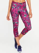 Old Navy Mid-Rise Floral-Print Compression Crops for Women