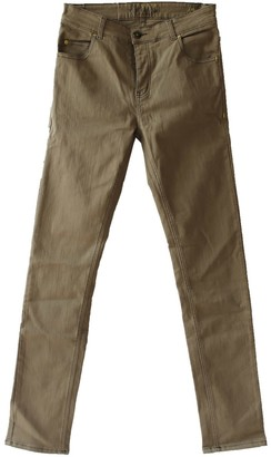 Tri Colour Federation Organic Cotton Khaki Mid Rise Mens Jean